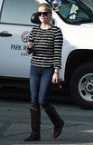 Reese Witherspoon wore stripes to the park in LA.