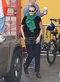 Julia Roberts wears a green scarf in LA.