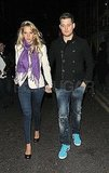 Michael Bublé and Luisana Lopilato holding hands in London.