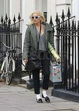 Gwen Stefani running errands in London.