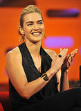 Kate Winslet applauded on the Graham Norton Show in London.