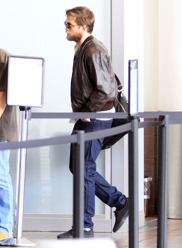 Rob followed a security guard through the line at LAX.