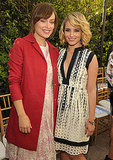 Olivia Wilde and Dianna Agron hung out at a party for the CFDA Vogue Fashion Fund Finalists.