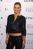 Bar Refaeli wore a leather jacket with leather pants.