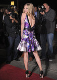 Amanda Seyfried showed off the back of her dress.