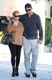 Jessica Simpson sticks close to Eric Johnson.