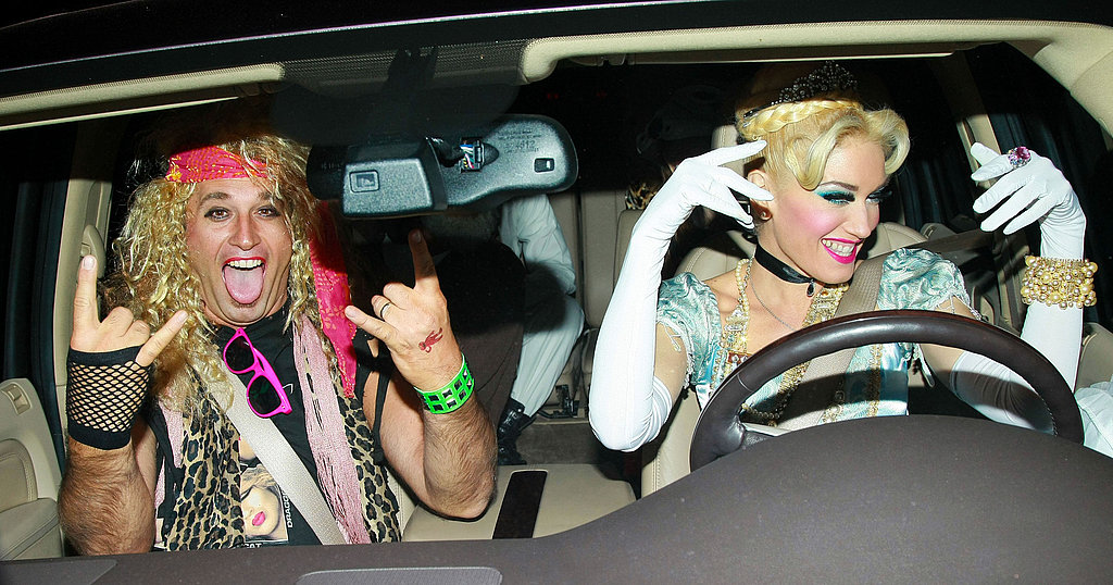 Gwen Stefani leaving Kate Hudson's Halloween party.