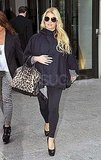 Jessica Simpson pregnant in NYC.