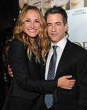 Julia Roberts posed with Dermot Mulroney at the October 2011 premiere of Fireflies in the Garden in LA.