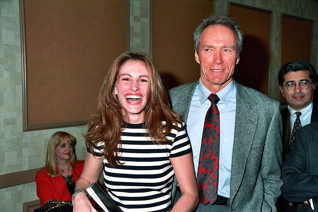 Julia Roberts was even able to crack up Clint Eastwood at the ShoWest convention in 1993.