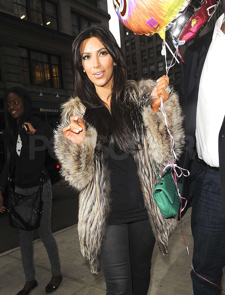 Kim Kardashian started her birthday celebration.