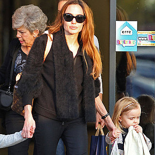 Angelina Jolie Pictures in Budapest With Knox, Vivienne, Shiloh, Zahara