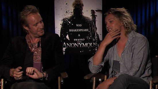 Rhys Ifans and Jamie Campbell Bower Talk Sharing the Same Role in Anonymous
