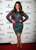Khloe Kardashian struck a pose at Marquee.