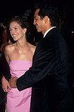 Julia Roberts smiled in a bubblegum-pink dress at the premiere of Stepmom in 1998 with then-boyfriend Benjamin Bratt.