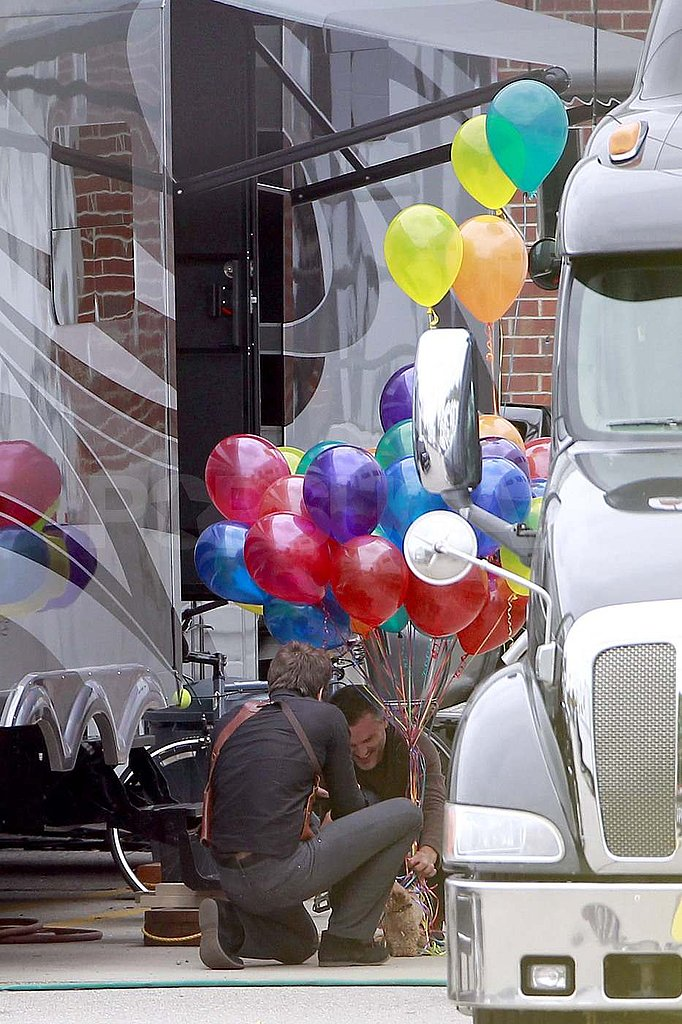 Ryan Reynolds gets a birthday present in Boston.