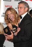 Julia Roberts helped honor friend George Clooney with an American Cinematheque Award in 2006.