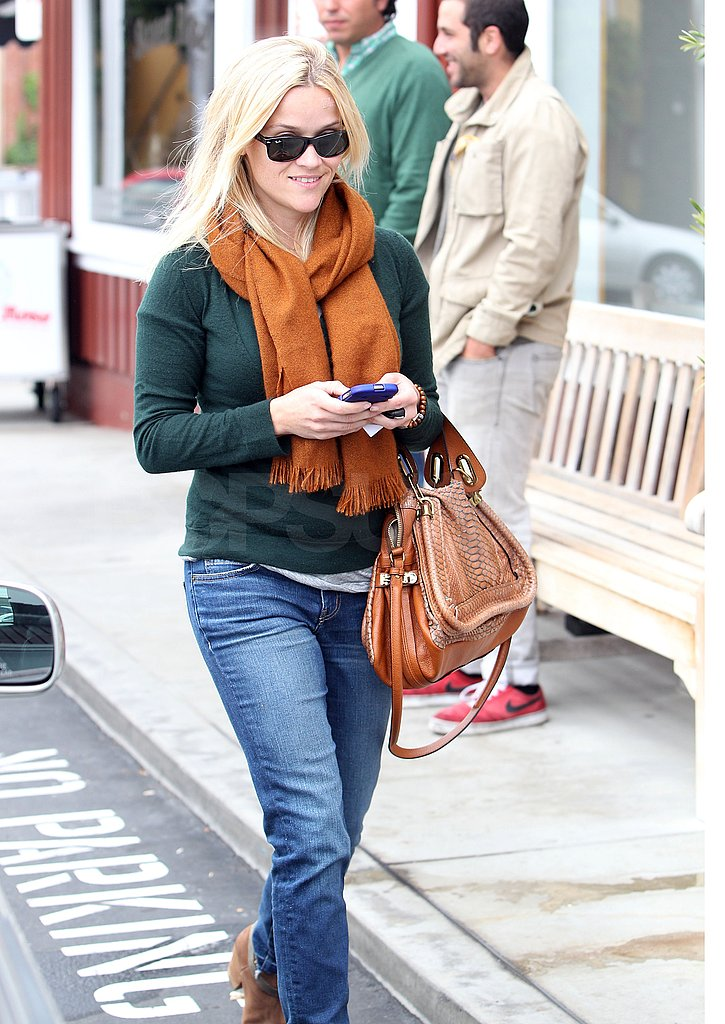 Reese carried her favorite Chloé bag.