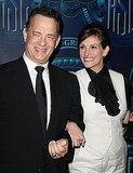 Julia Roberts and her Larry Crowne costar Tom Hanks smiled for the cameras at an awards ceremony in February.