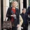 Blake Lively Back in NYC on Gossip Girl Set Pictures