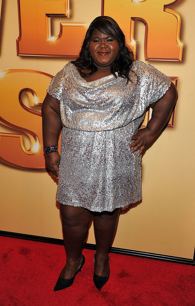 Gabourey Sidibe sparkled in a sequin dress.
