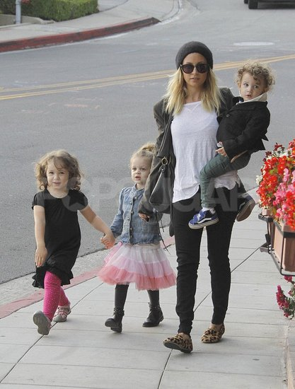 Nicole Richie Does Lunch With Her Little Ones Harlow and Sparrow
