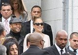 Jennifer Lopez was joined by her manager Benny Medina.