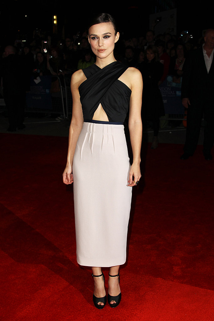 Keira Knightley at the London Film Festival.