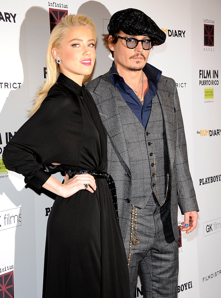 Amber Heard headed east to join Johnny Depp for the premiere.