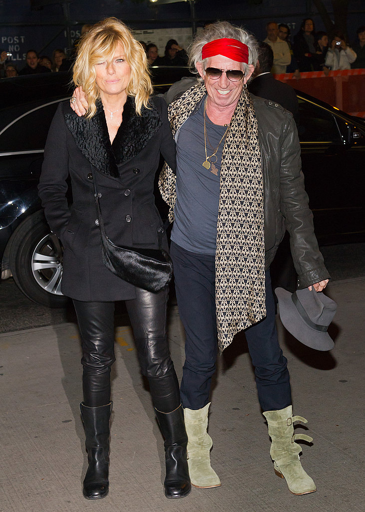 Keith Richards was all smiles in NYC.