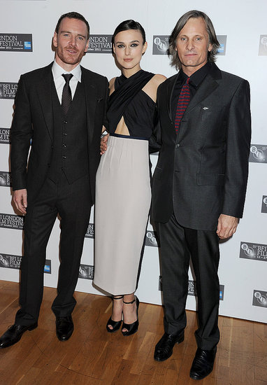 Keira Knightley Bares Her Abs at a London Premiere With Michael and Viggo