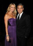 George Clooney and Stacy Keibler had a date night in NYC.