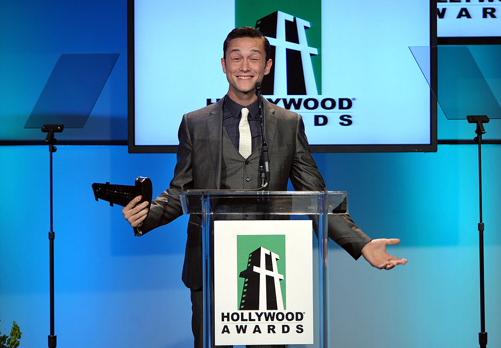 Joseph Gordon-Levitt was happy to receive the Hollywood Breakthrough Actor award.