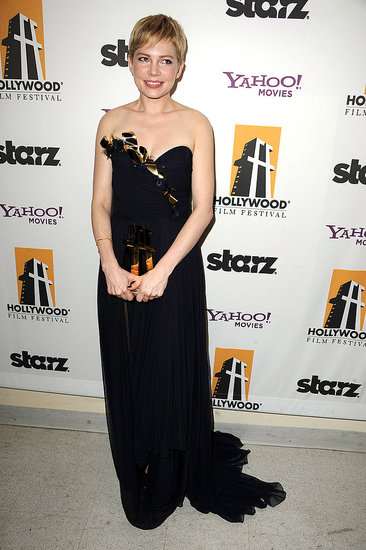 Michelle Williams received the Hollywood Actress award at the 2011 Hollywood Film Awards.