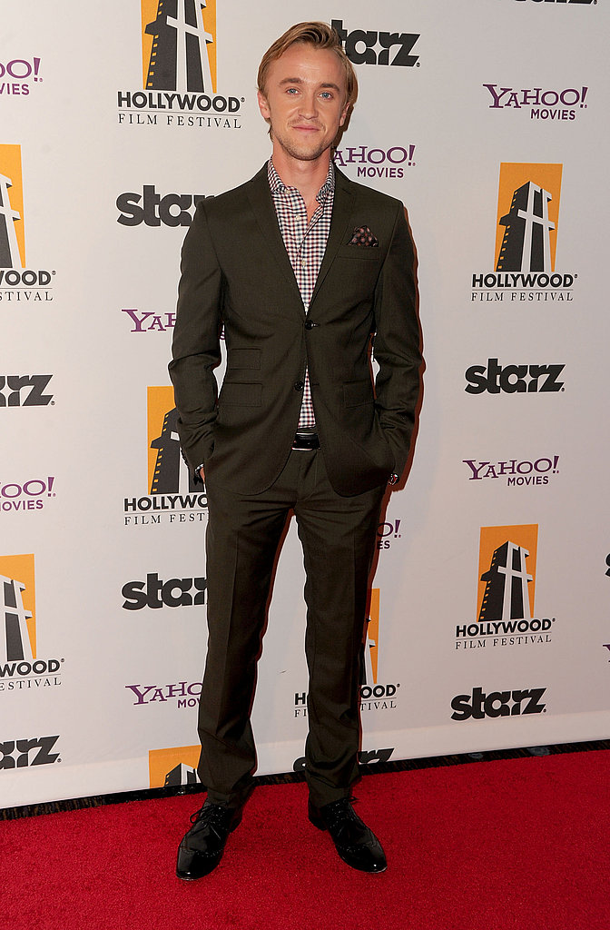 Tom Felton arrived at the Hollywood Film Awards Gala.