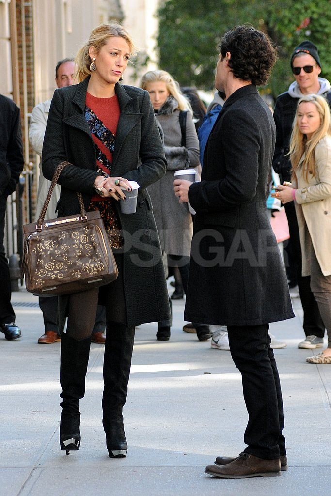 Blake Lively and Penn Badgley walked on the streets of NYC.