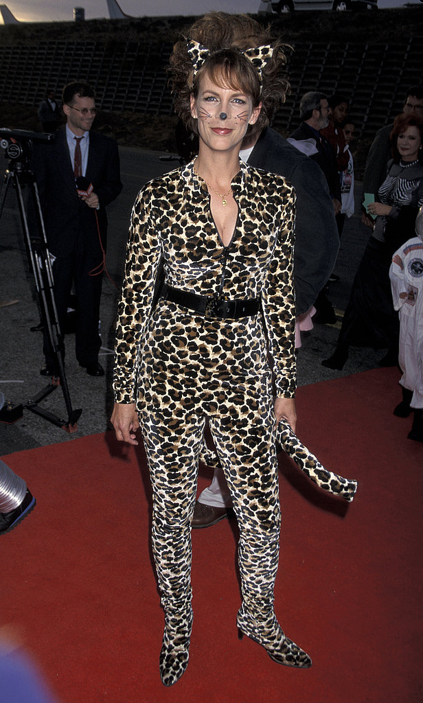Jamie Lee Curtis is dressed to purr-fection at a Halloween charity event in 1998.