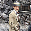 The Great Gatsby Movie Set Pictures of Tobey Maguire
