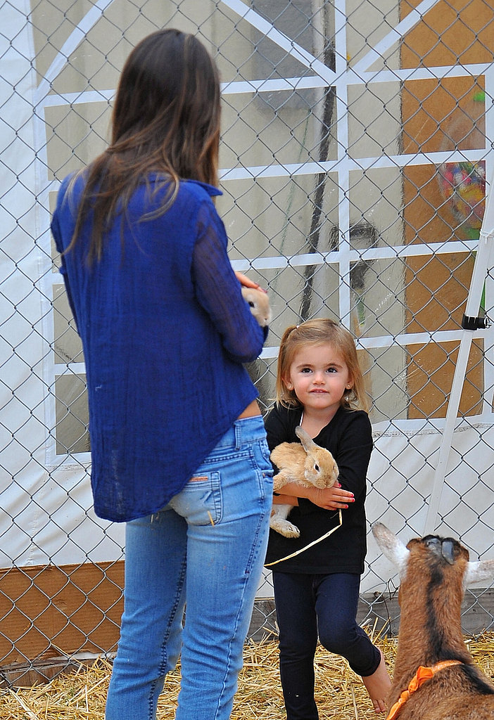 Anja Mazur picked up a bunny with her mom.