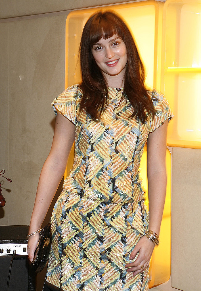 Leighton Meester wore an architectural look to a NYC Party.