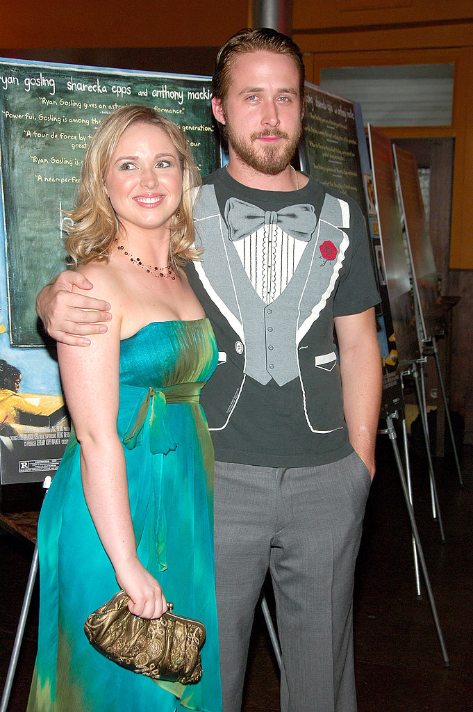 Ryan wore his version of a tux at the Half Nelson NYC premiere with his sis.