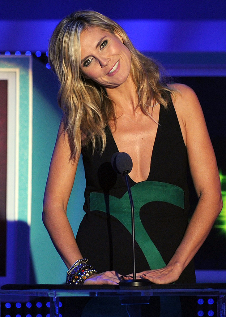 Heidi Klum had fun during her speech.