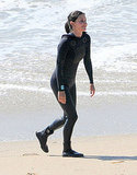 Courteney Cox on the beach in Malibu.