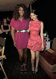 Serena Williams and Victoria Justice posed backstage.