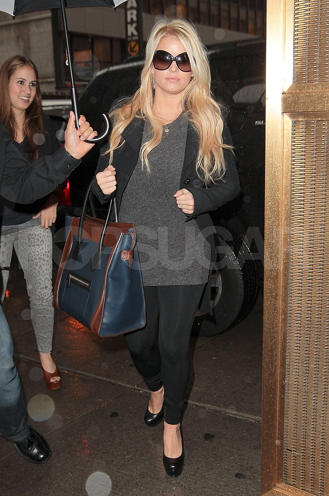 Jessica Simpson tended to her NYC business