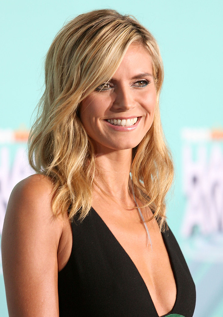 Heidi Klum wore her hair down for the event.