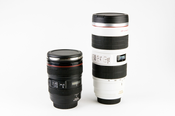 Nikon and Canon Lens Mugs ($24-$30)