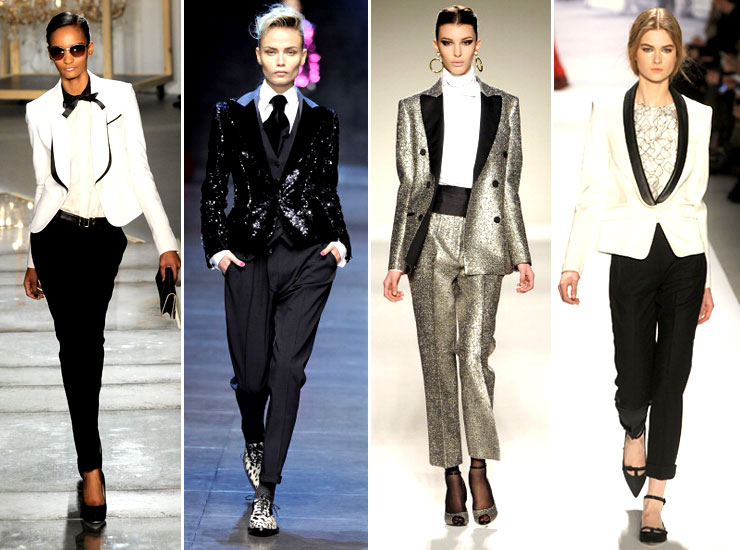 The runways were rife with party-ready menswear looks, and we love how sharp a shimmery tuxedo jacket can look with a pair of tailored trousers. Designers like Jason Wu, Dolce & Gabbana, Moschino and Tibi showed fancy, festive jackets complete with sequins, shimmer and sleek lapels.