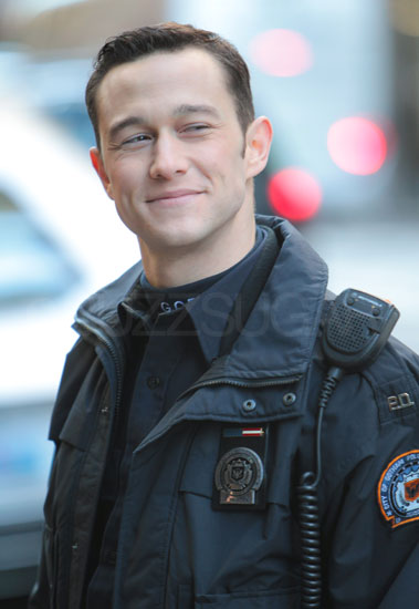Joseph Gordon-Levitt as John Blake on the set of The Dark Knight Rises.