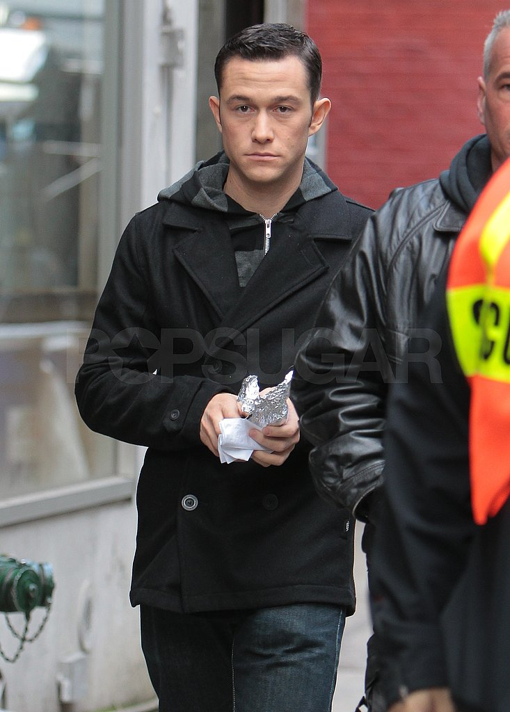 JGL was up bright and early for his latest day of filming.